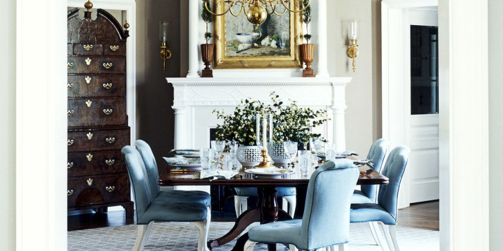 Ralphlaurenmetallicpaintdiningroomtraditionalwithnone Ralph Lauren Dining Room How To Choose A Table Decorating Ideas