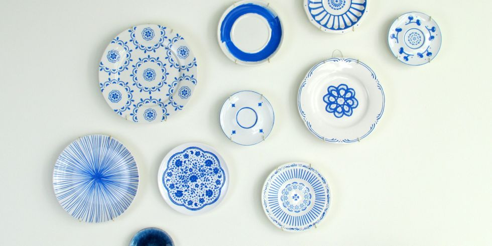 These pretty plates from Francois et Moi are the perfect solution to a boring white wall  sc 1 st  My Web Value | Decoration ideas blog. & diy plate decorating | My Web Value