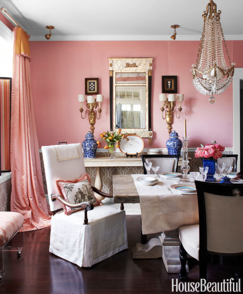 Pink rooms ideas for pink room decor and designs for H o rose dining room