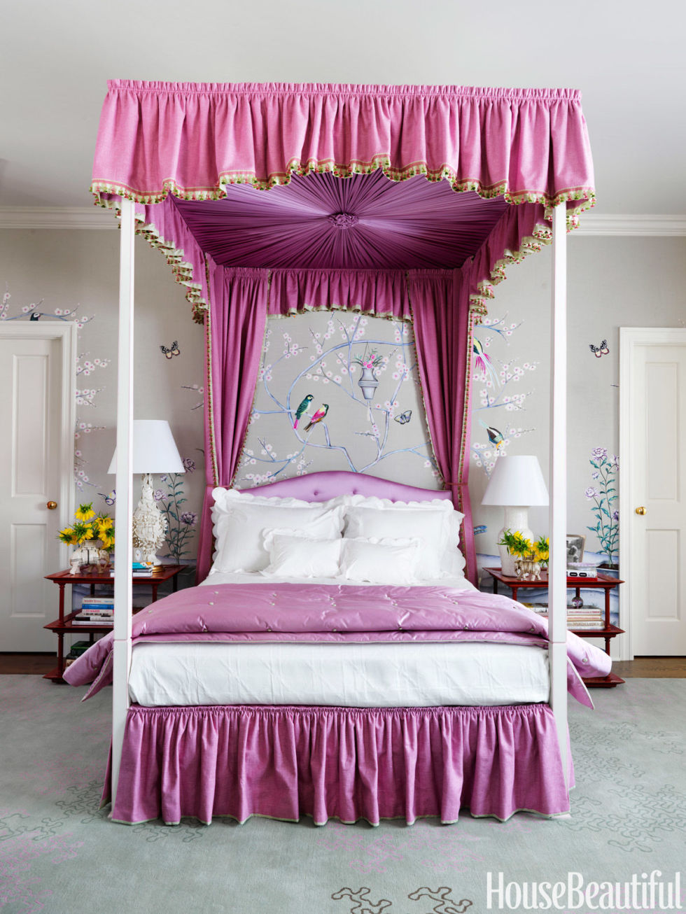 Pink Rooms Ideas For Pink Room Decor And Designs - Bedroom curtain design