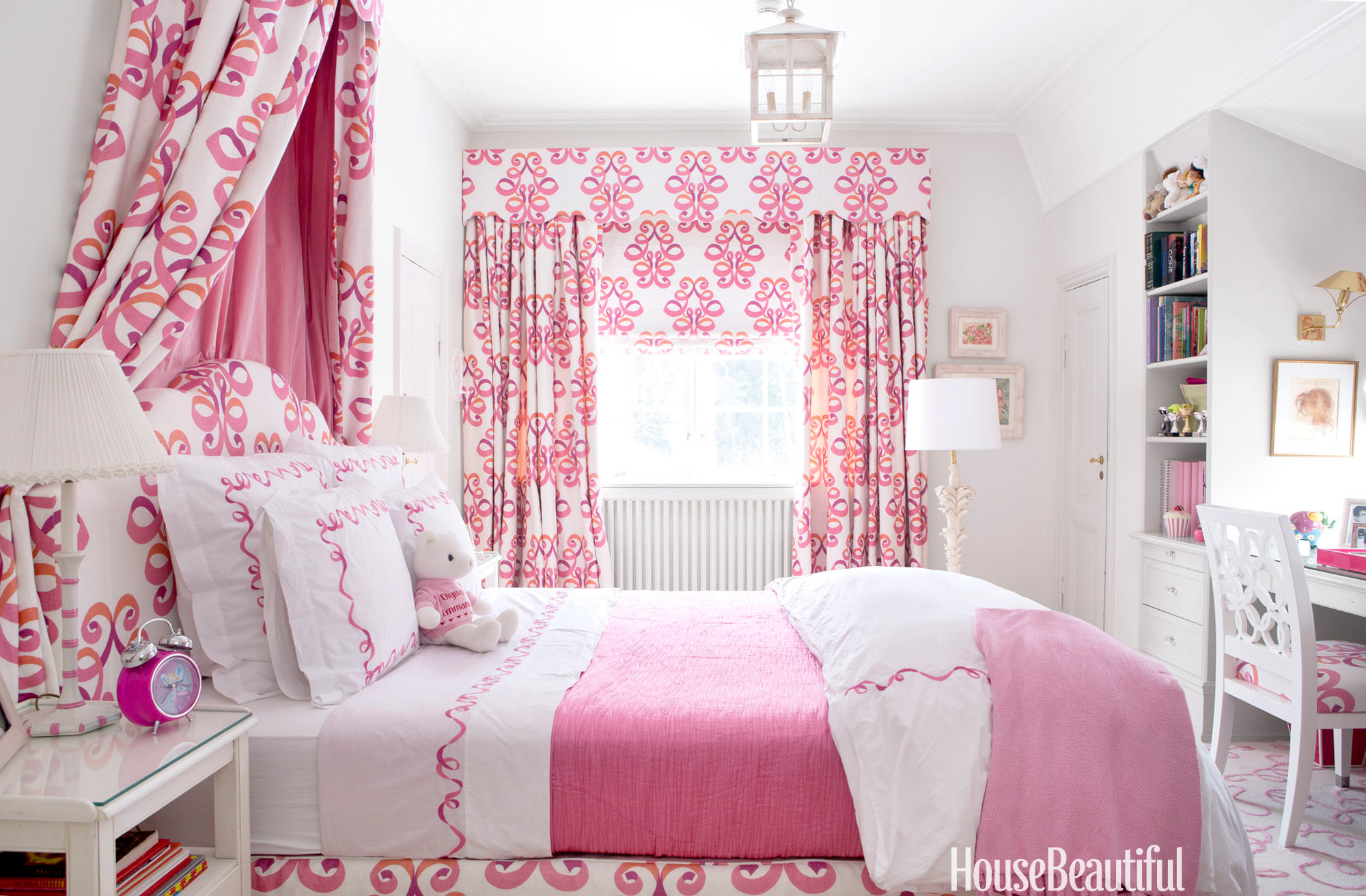 Pink rooms ideas for pink room decor and designs for House beautiful bedroom decor