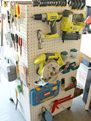 This DIY tool caddy byMom 4 Real, built out of pegboard, is great for storage. Plus it's convenient: It can roll wherever you need it to go. See more of this project atHomeTalk.