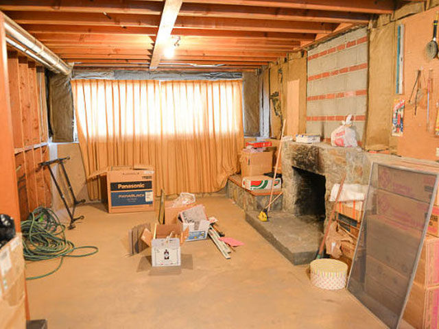 This empty and unfinished basement was anything but functional.