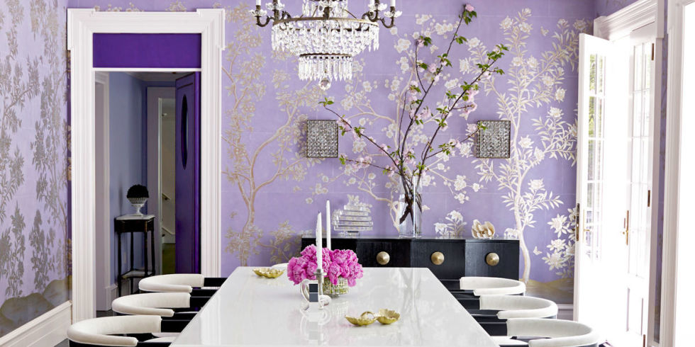 Purple house interior