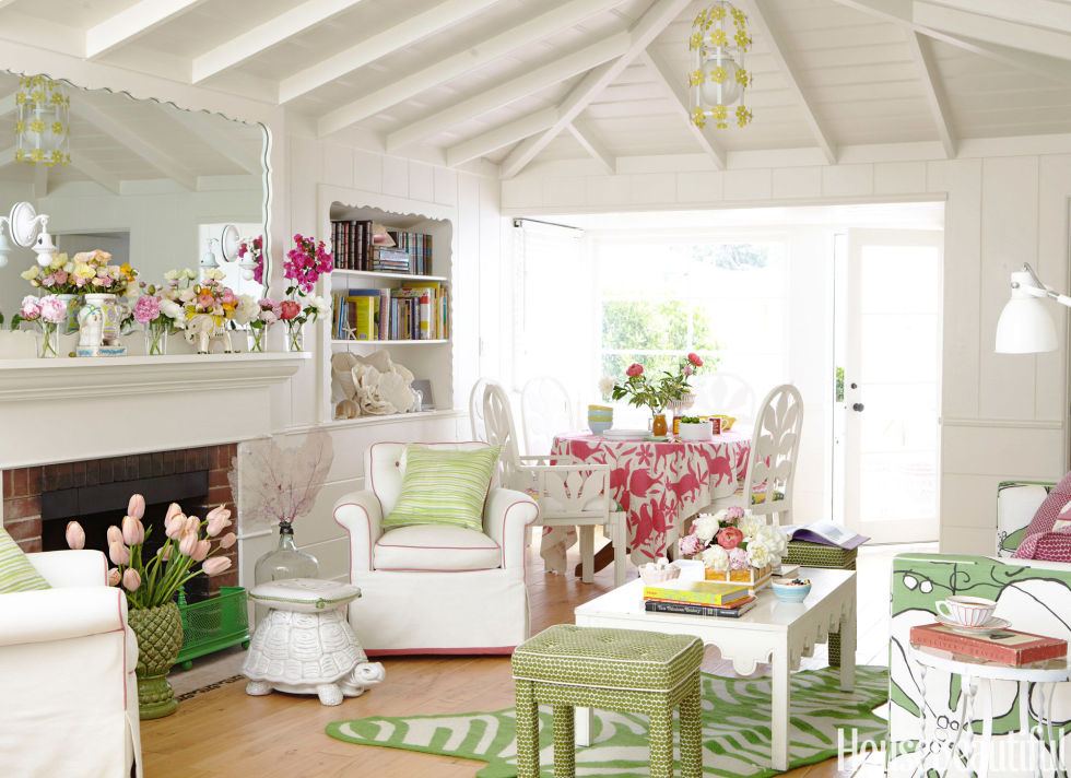 go bold - House Beautiful Living Room Colors