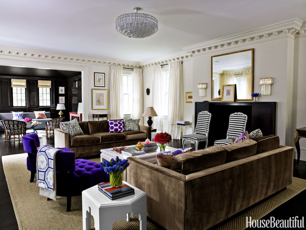 The Designer Explains How She Decorated Her Client S House In Her Favorite Hue Purple Tour The House Here