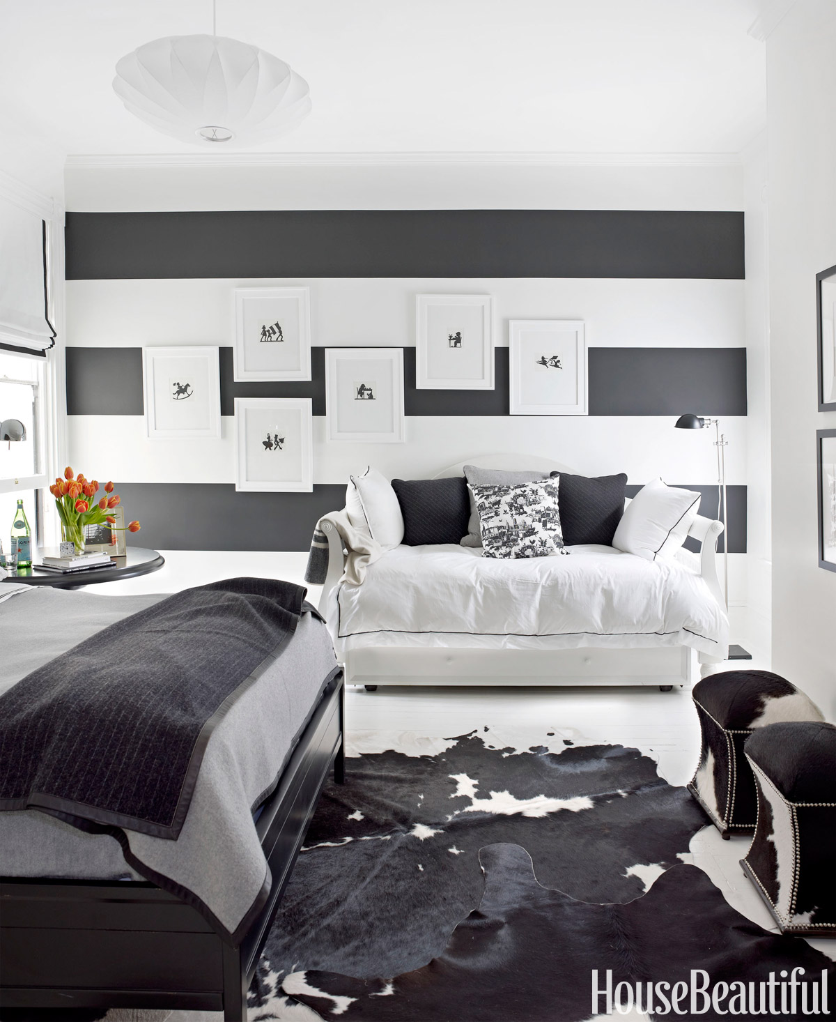 Bedroom Decorating Ideas Black And Blue black and white designer rooms - black and white decorating ideas