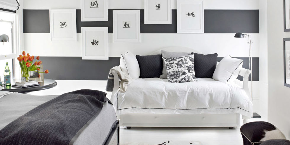 Black And White Room black and white designer rooms - black and white decorating ideas