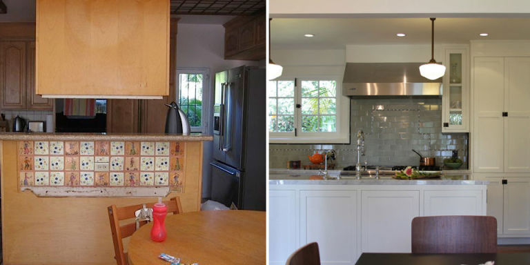 Before And After 70s Kitchen Makeover