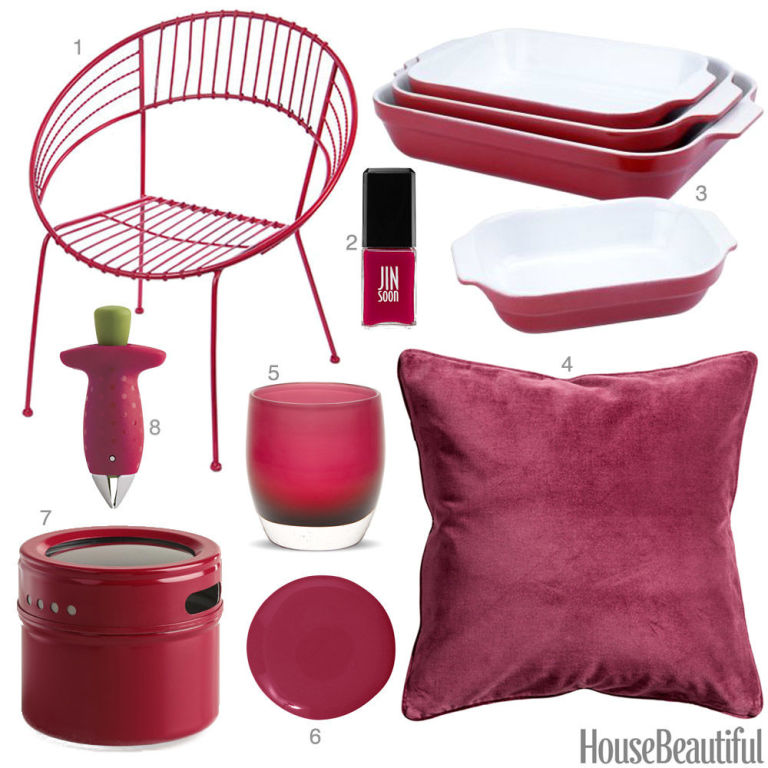 color obsession of the week raspberry red - Red Home Decor Accessories