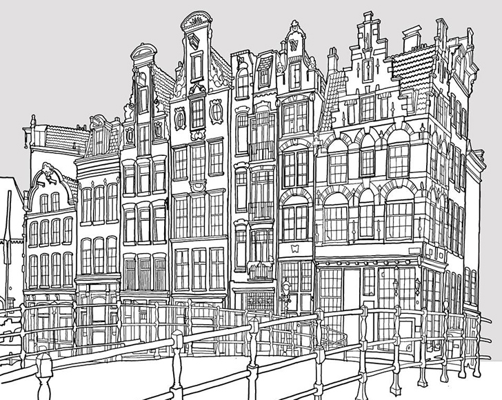 amazing a grownup coloring book for big city lovers with city coloring page