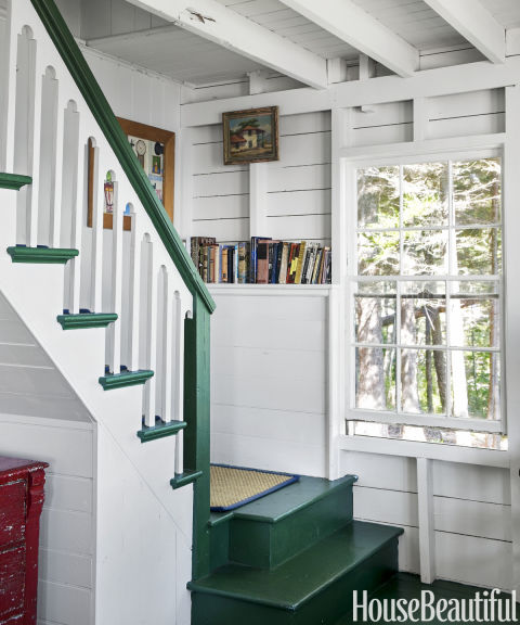 21 Attractive Painted Stairs Ideas Pictures: Inside A Classic Maine Cottage That's More Than 100 Years Old