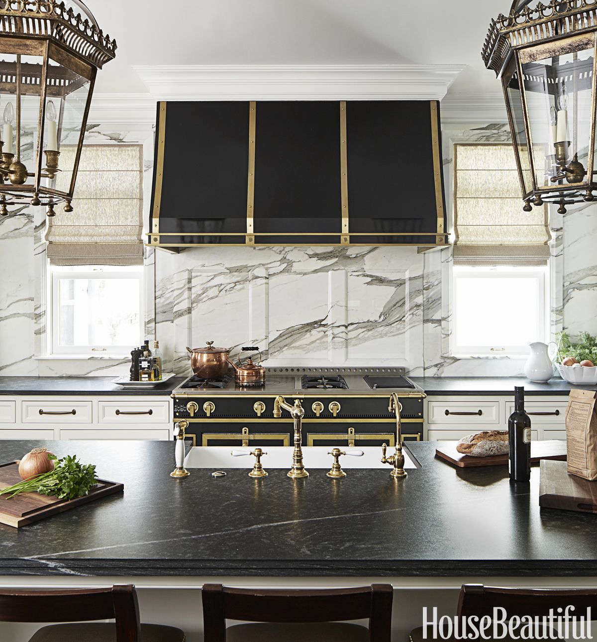 Black And White Kitchen Design Luxe
