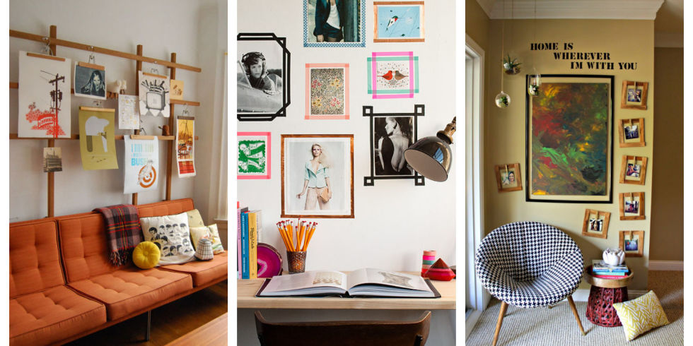 ideas for hanging photos without frames | My Web Value