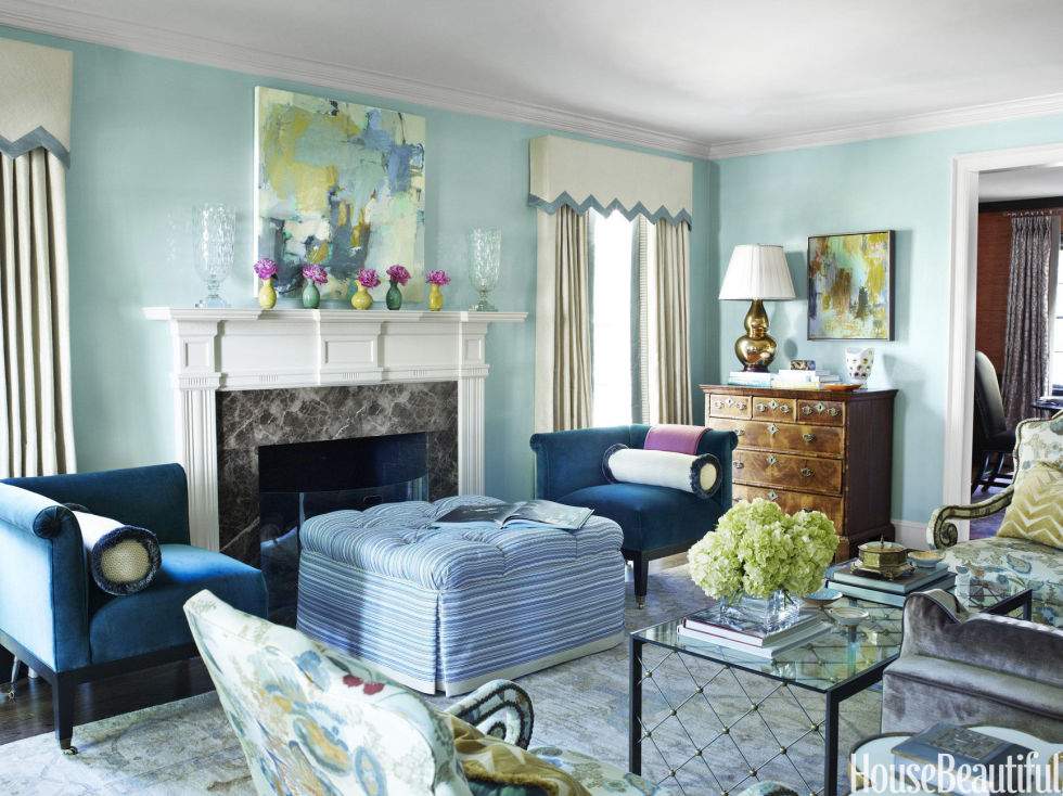 sky blue - Color Of Living Room