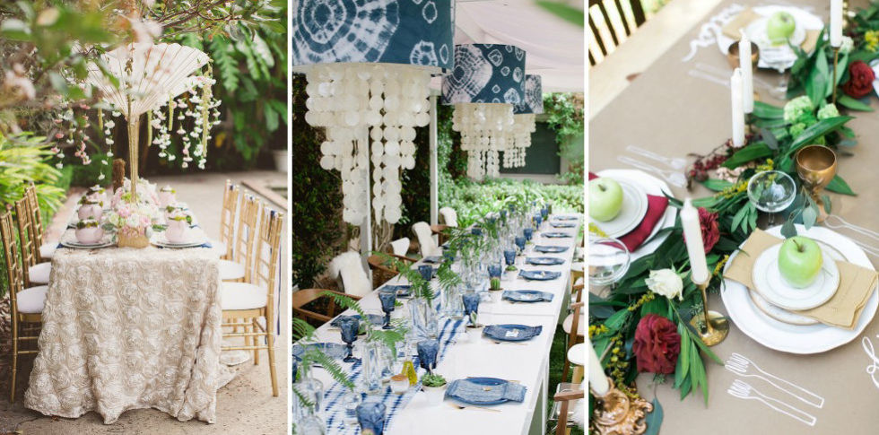 bridal shower tablescape ideas - how to decorate for a bridal shower