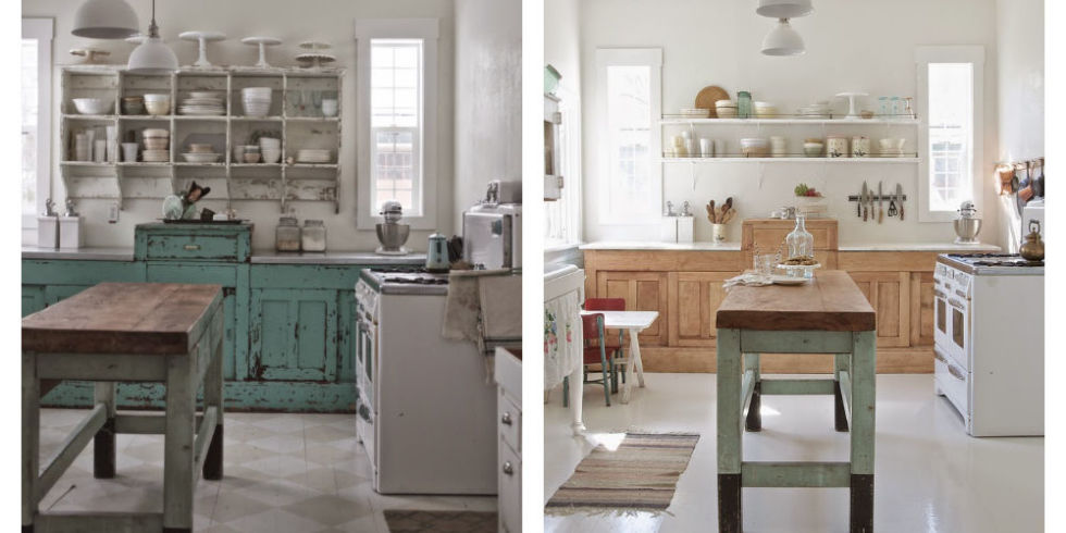 A Shabby Chic Kitchen Gets A Bright Modern Makeover