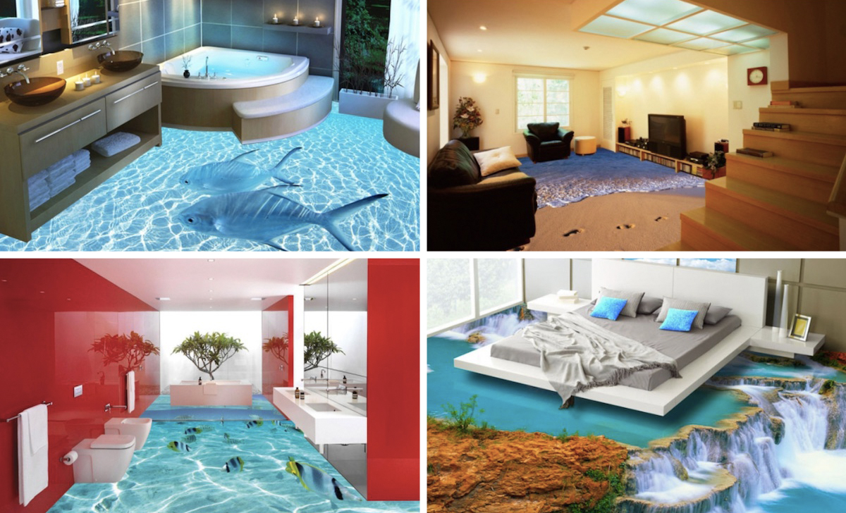 3D Floors Printed Photo Flooring : 1430848174 3d floor collage from www.housebeautiful.com size 1200 x 728 jpeg 616kB