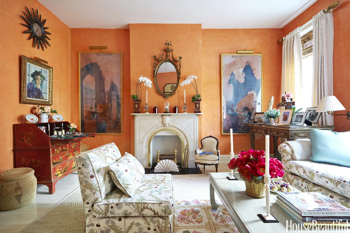 Orange Living Rooms Orange New York City Apartment Justine Cushing New York Apartment