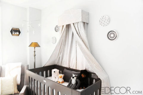 Unique nursery decorating ideas baby room designs for Elle decor nursery