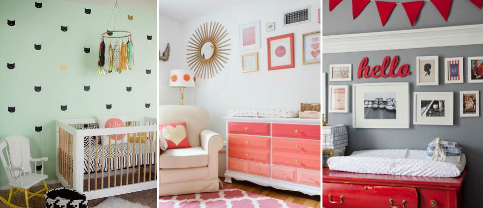 unique nursery decorating ideas - baby room designs