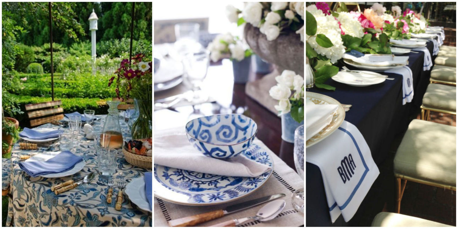 Blue And White Decorations blue and white dishes and table settings - tablescapes and