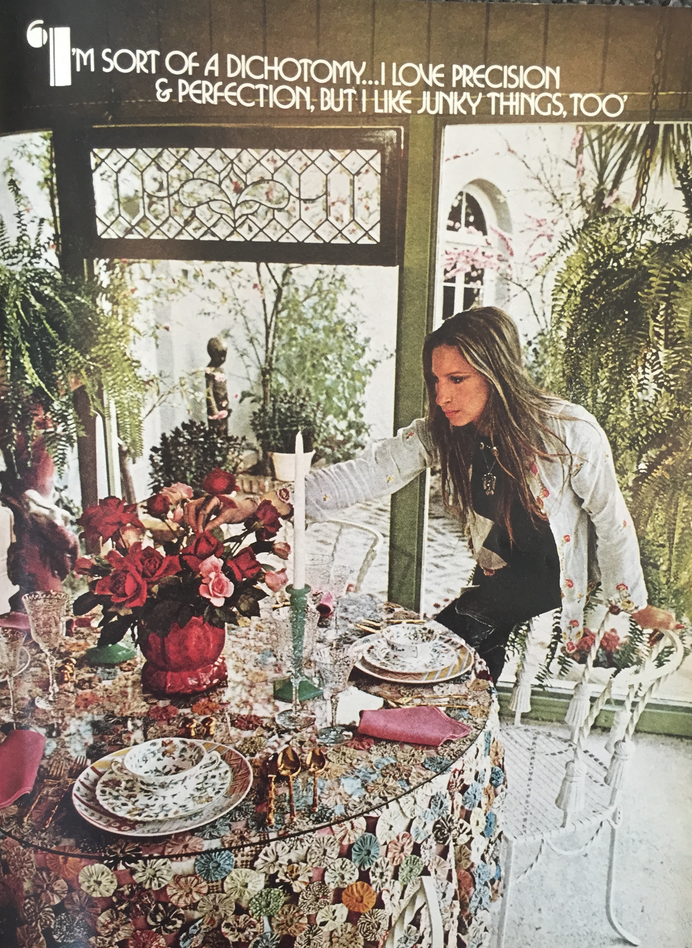 Barbra Streisand House Tour August 1974 Beautiful