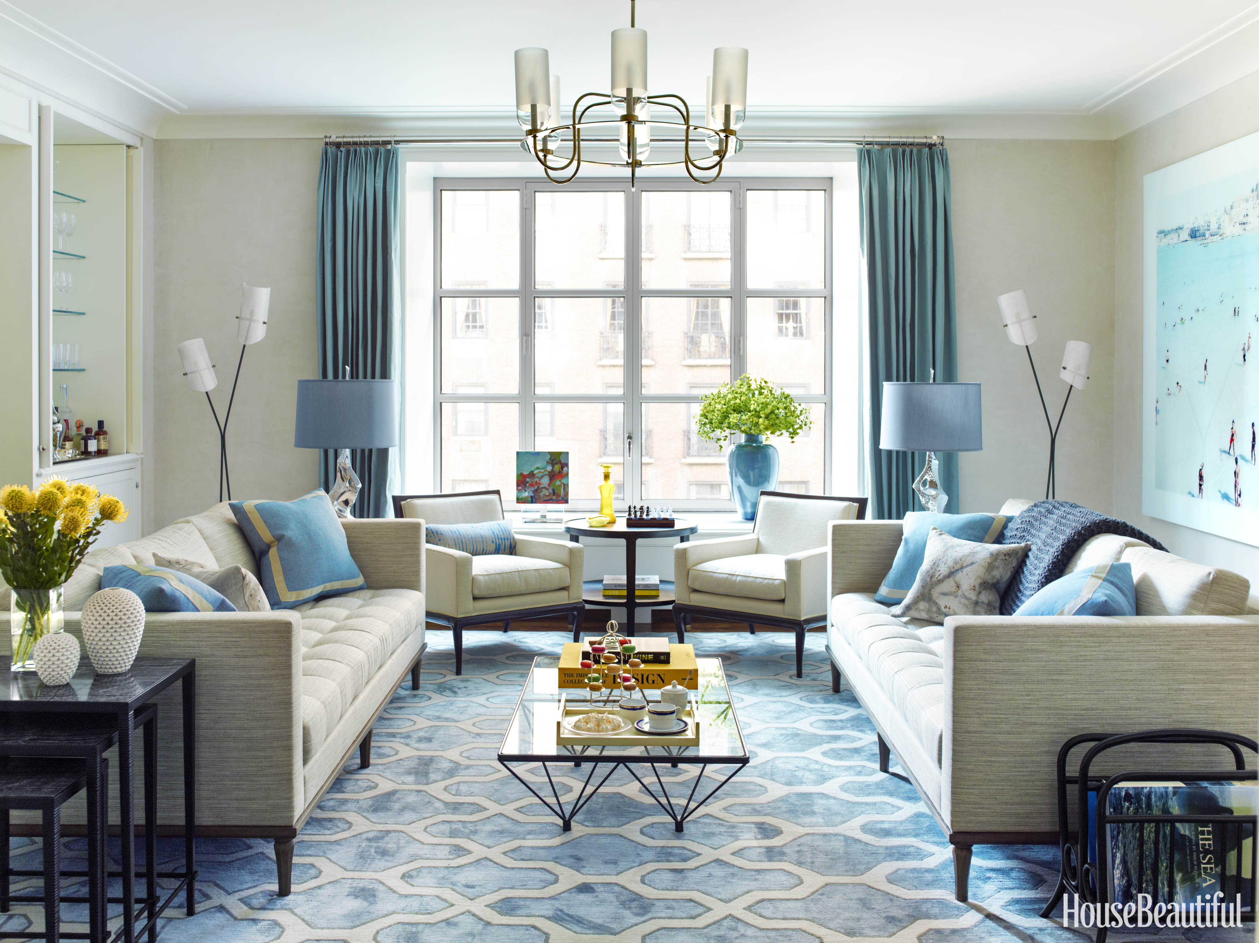Blue Manhattan Apartment  Gideon Mendelson Interior Design. Blue Color Schemes For Living Rooms. Conga Room La Live. Feng Shui In The Living Room. Living Room Show Case. Kitchen Living Room Design. Cream And Red Living Room Ideas. Built In Cabinets For Living Room. Good Living Room Designs