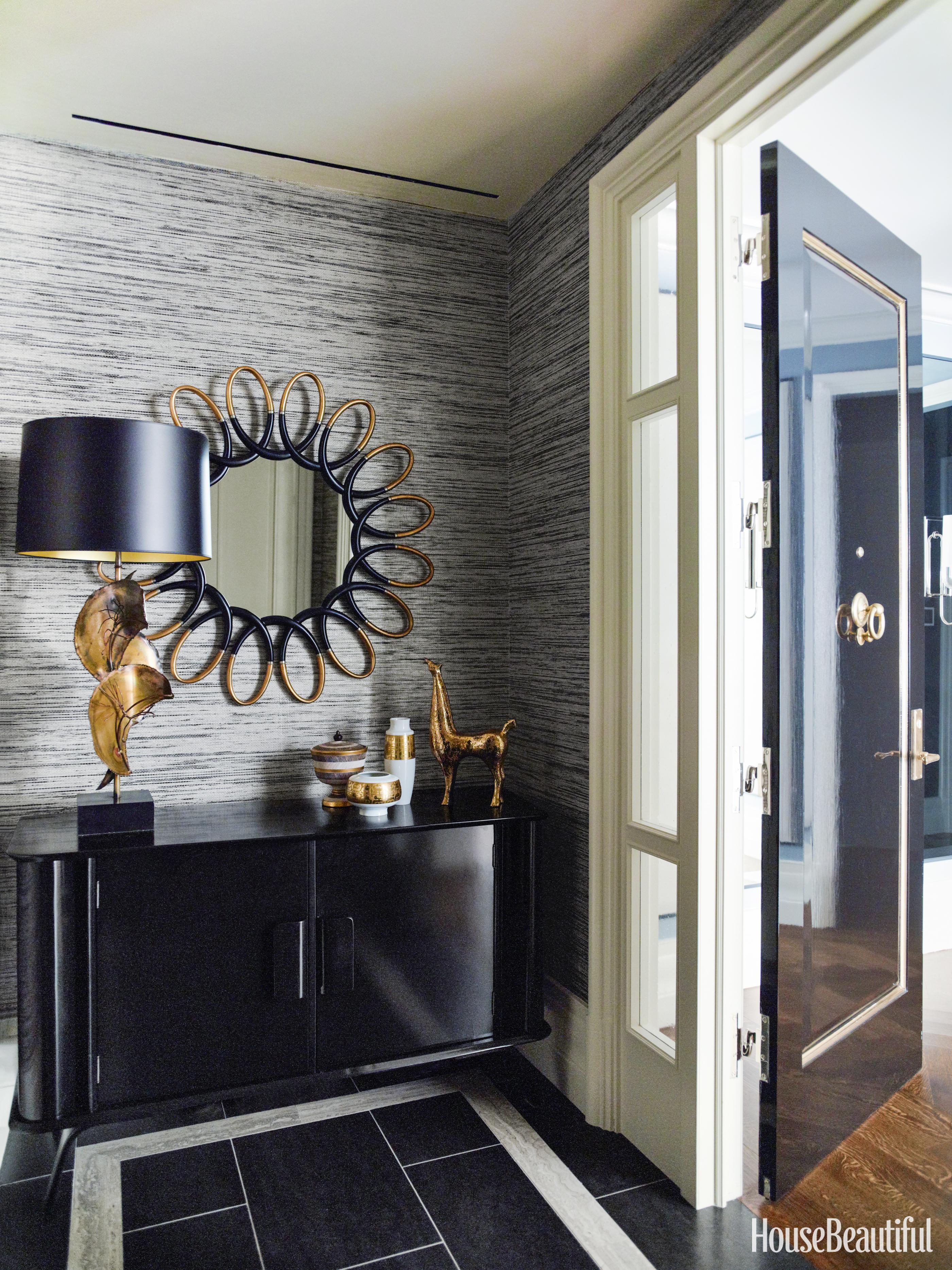 Blue manhattan apartment gideon mendelson interior design for Arredare un piccolo ingresso
