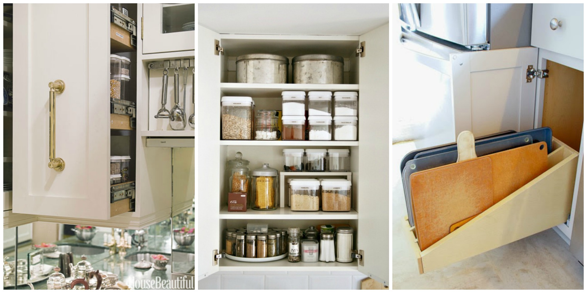 Organizing kitchen cabinets storage tips for cabinets for Kitchen cabinets storage