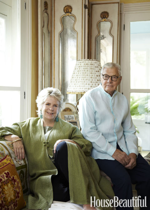 """John and I are like bookends. We share a love of houses, collecting, gardens, dogs, and especially a love of people."" —Bunny Williams<br /> Learn more about the designing duo here.<br />"