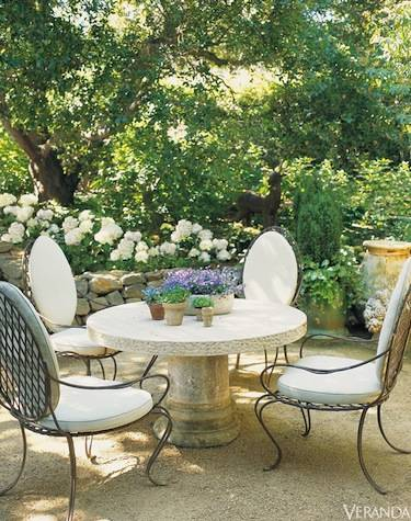 The Atlanta-based designer's Provence farmhouse.<br />Image originally appeared in the September 2007 issue of Veranda. Interior design by Ginny Magher.<br />