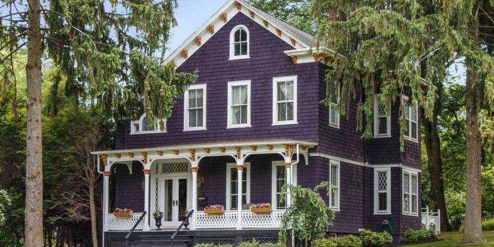 Groovy Purple Victorian Home Purple Exterior Paint Colors Largest Home Design Picture Inspirations Pitcheantrous