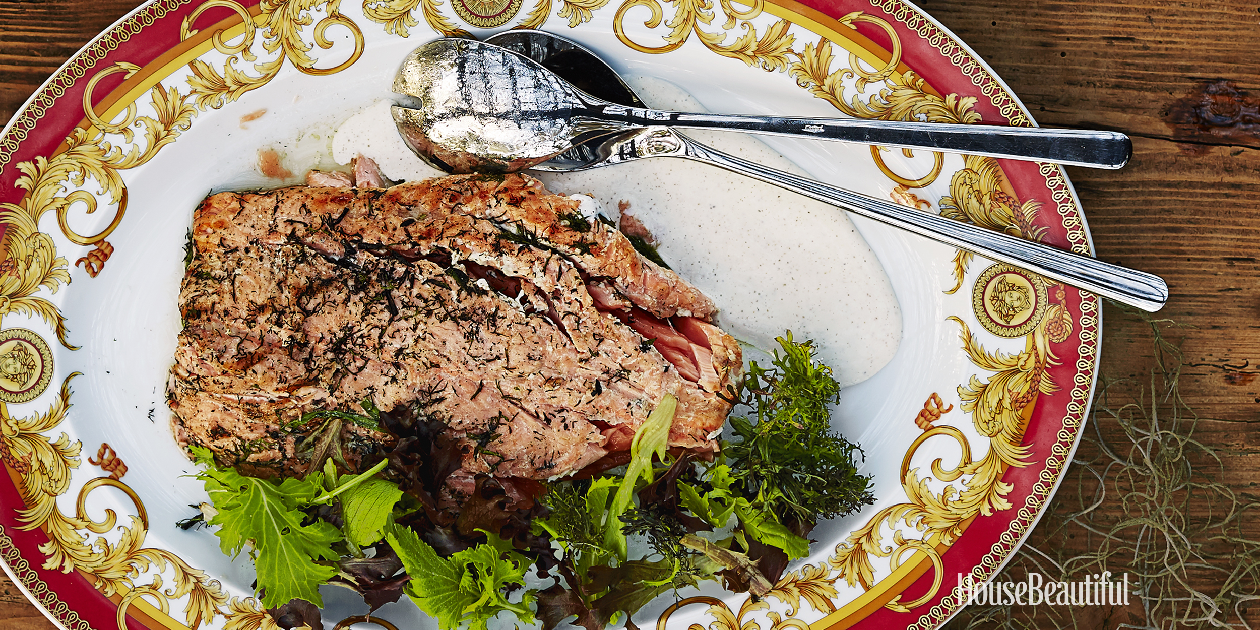 Herb-Grilled Wild Alaskan Salmon With Buttermilk Dressing - John Besh ...