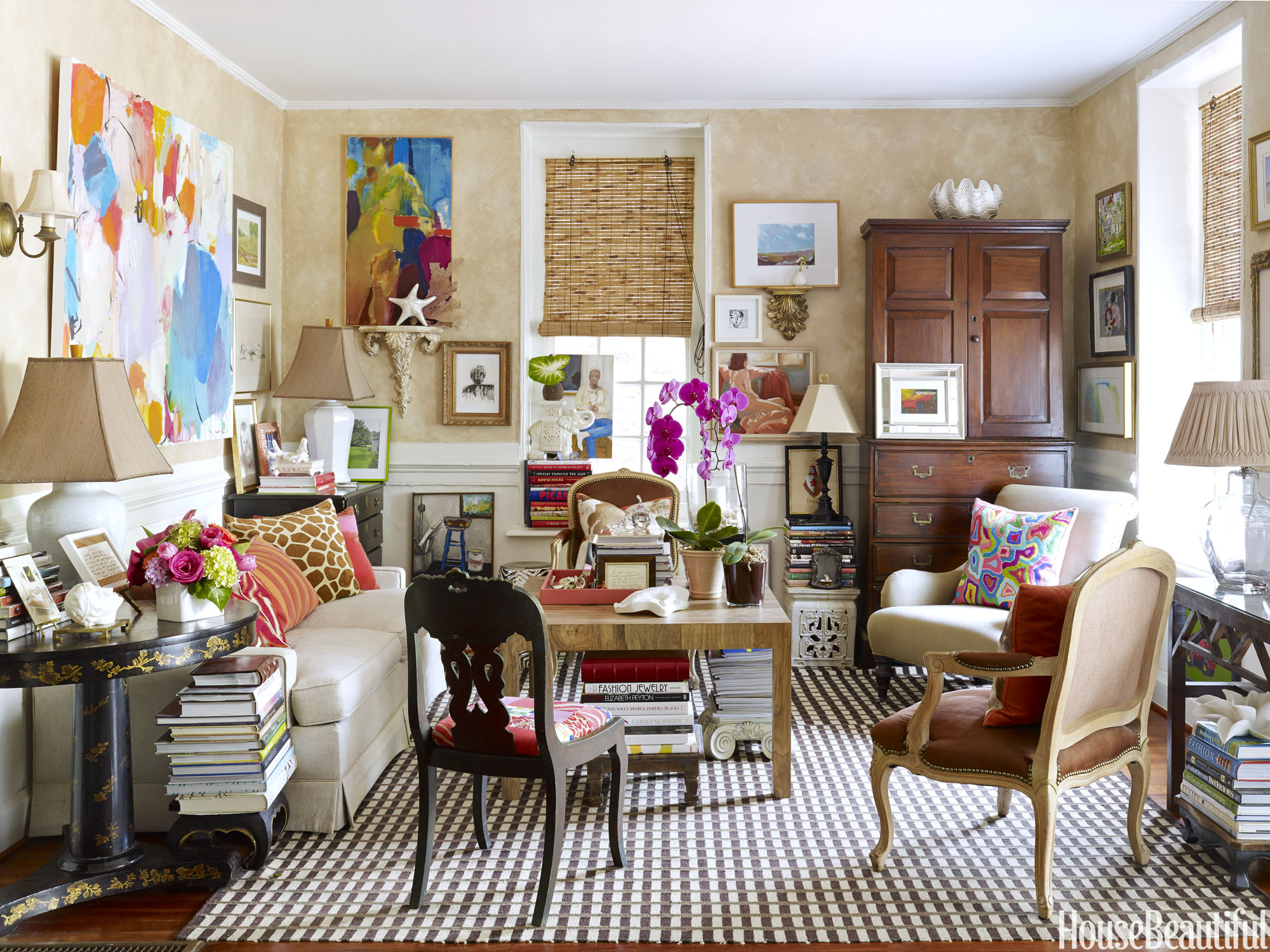 Eclectic Charleston House Tour Janet Gregg Jewelry