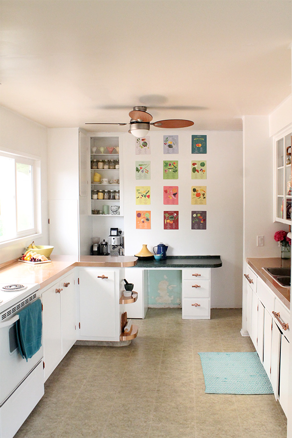 this kitchen makeover cost less than a new refrigerator - Cheap Kitchen Makeover Ideas