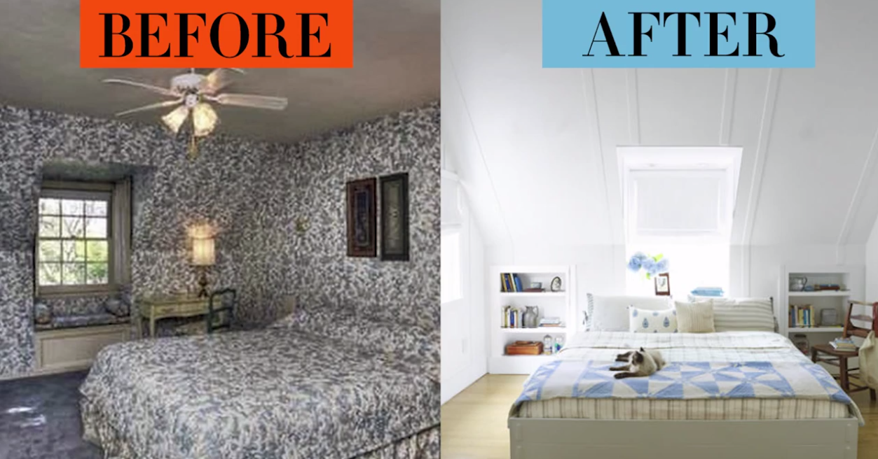 House Beutiful bedroom makeovers - bedroom before and afters