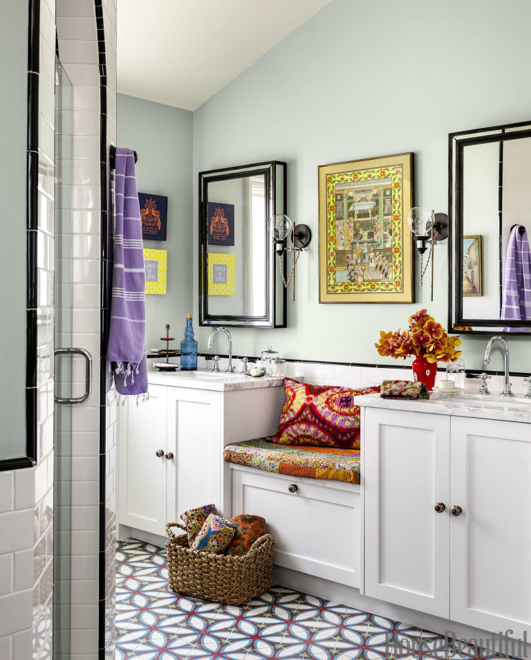 California Bathroom With Modern Bohemian Vibe