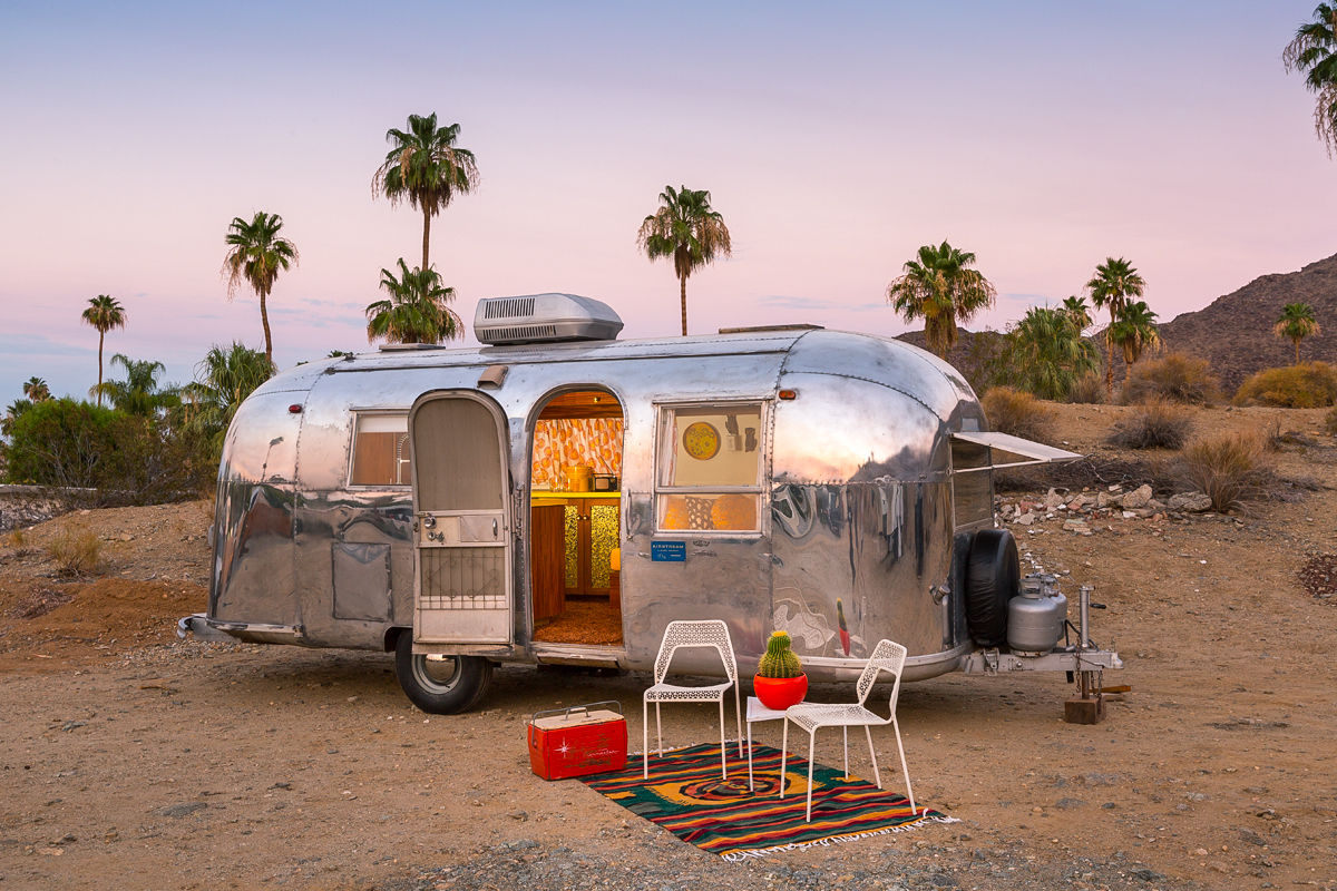 vintage palm springs airstream remodeled vintage trailer. Black Bedroom Furniture Sets. Home Design Ideas