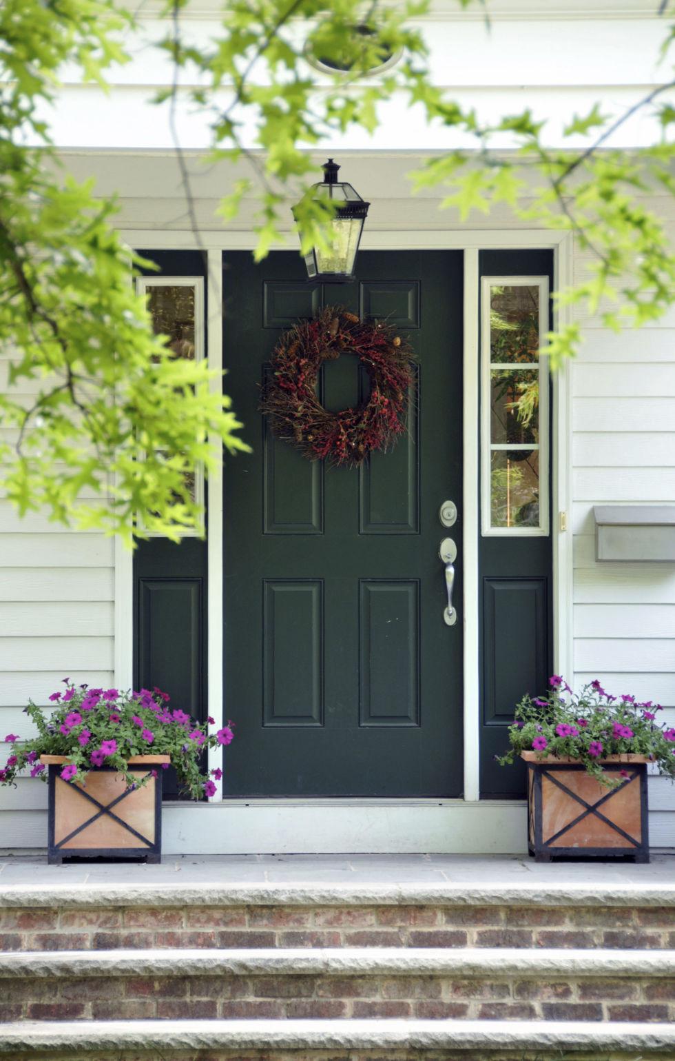 Green Front Door front door colors - what your front door says about you