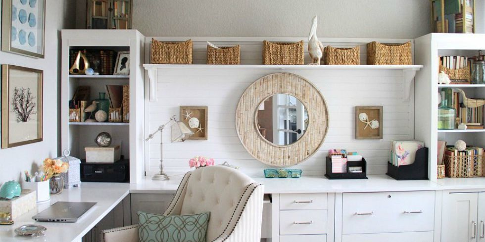55 best home office decorating ideas design photos of for Decorating office ideas