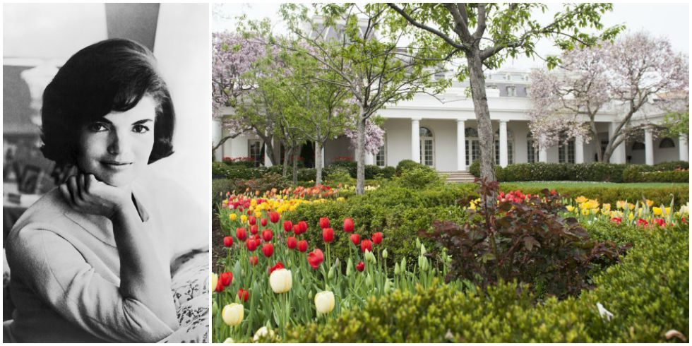Explore the white house rose garden jackie kennedy onassis for Jackie o house vaucluse