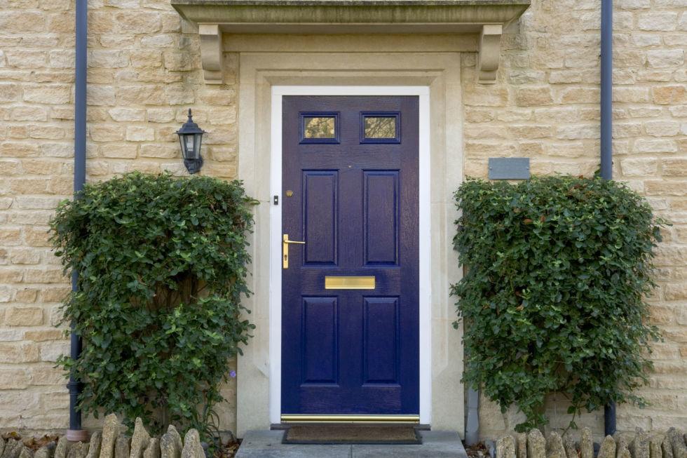 Blue Front Door front door colors - what your front door says about you