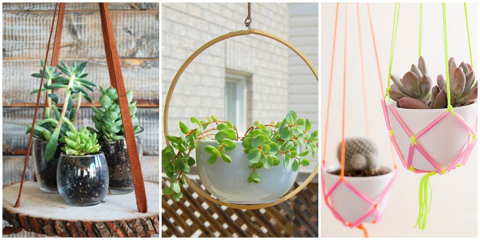 Diy hanging planters hanging planter ideas for Hanging flower pots ideas