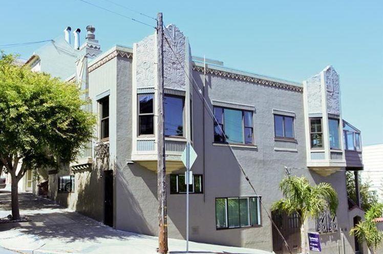 Art Deco Home purple art deco san francisco home - colorful exterior home makeover