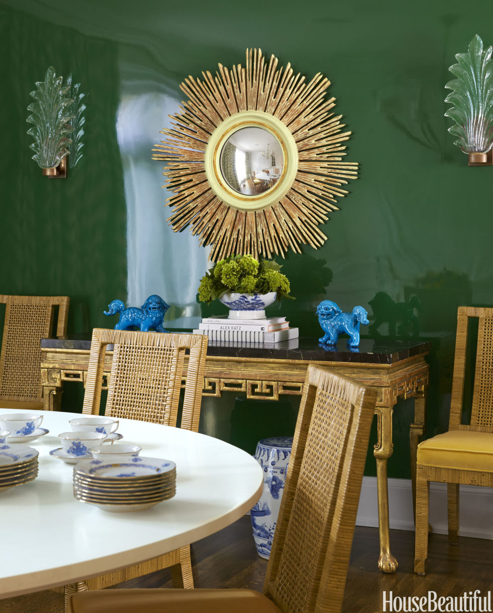 Green dining room design - Green Dining Room Design
