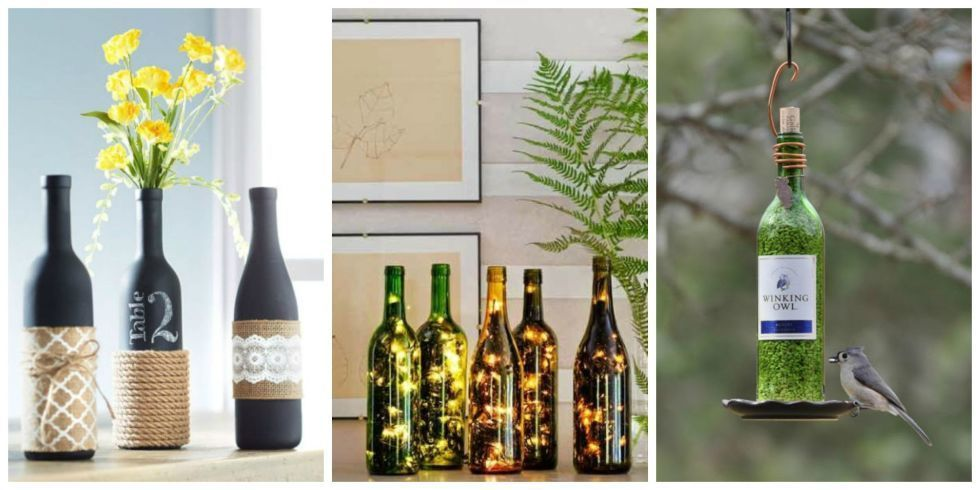 23 Crafty Ways to Repurpose Empty Wine Bottles