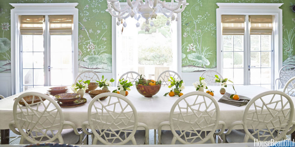 small dining room decor  landscape  green dining room