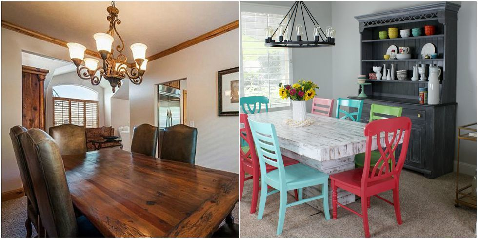 A Dining Room Makeover That Adds Playful Color Dining Room Makeover