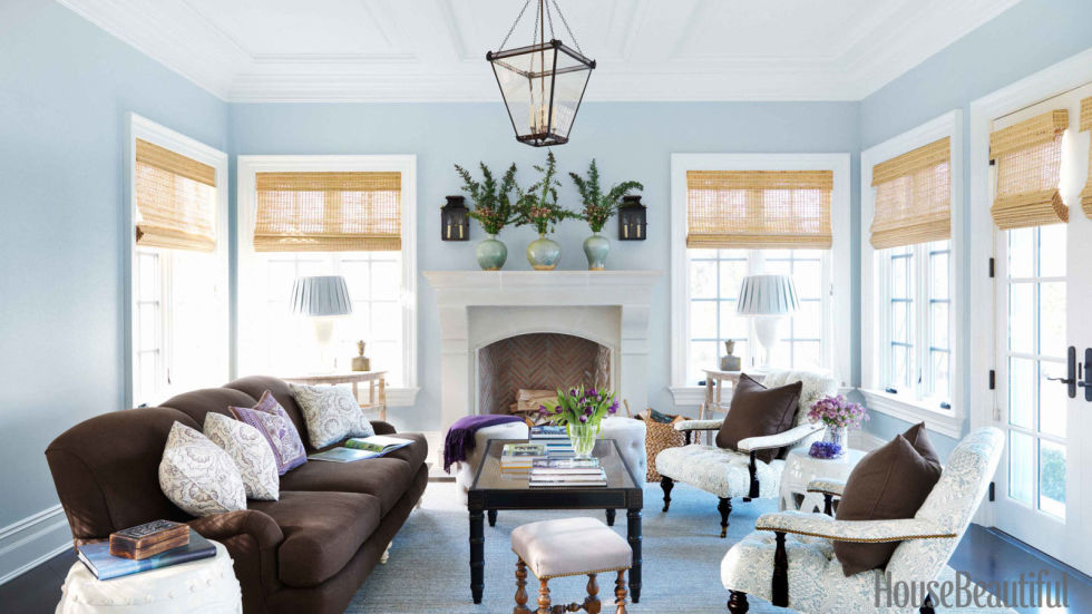 """""""As tried and true blue, you bring a no-nonsense attitude to most endeavors, and your strong belief in the things you undertake is often the key to their success,"""" Smith says. Blue was also the favorite color of designer Lee Ann Thornton's clients – the color launched the palette in this Old Greenwich, Connecticut, living room."""